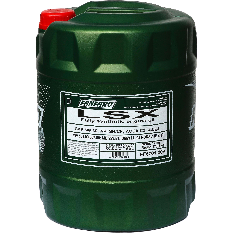 Lieblings 20 Liter ORIGINAL FANFARO LSX 5W-30 API SN/CF Motoröl Öl @MK_49