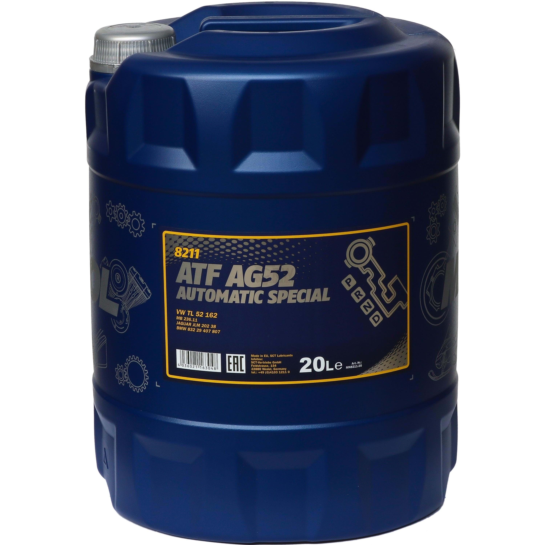 20 Liter MANNOL Automatikgetriebeöl ATF AG52 Automatic Special