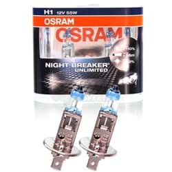 Bild von OSRAM NIGHT BREAKER UNLIMITED XENON LOOK H1 12V 55W +110% P14.5s DUO-BOX