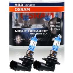 Bild von Osram HB3 Night Breaker Unlimited Xenon Look 12V 60/55W P43t DUO