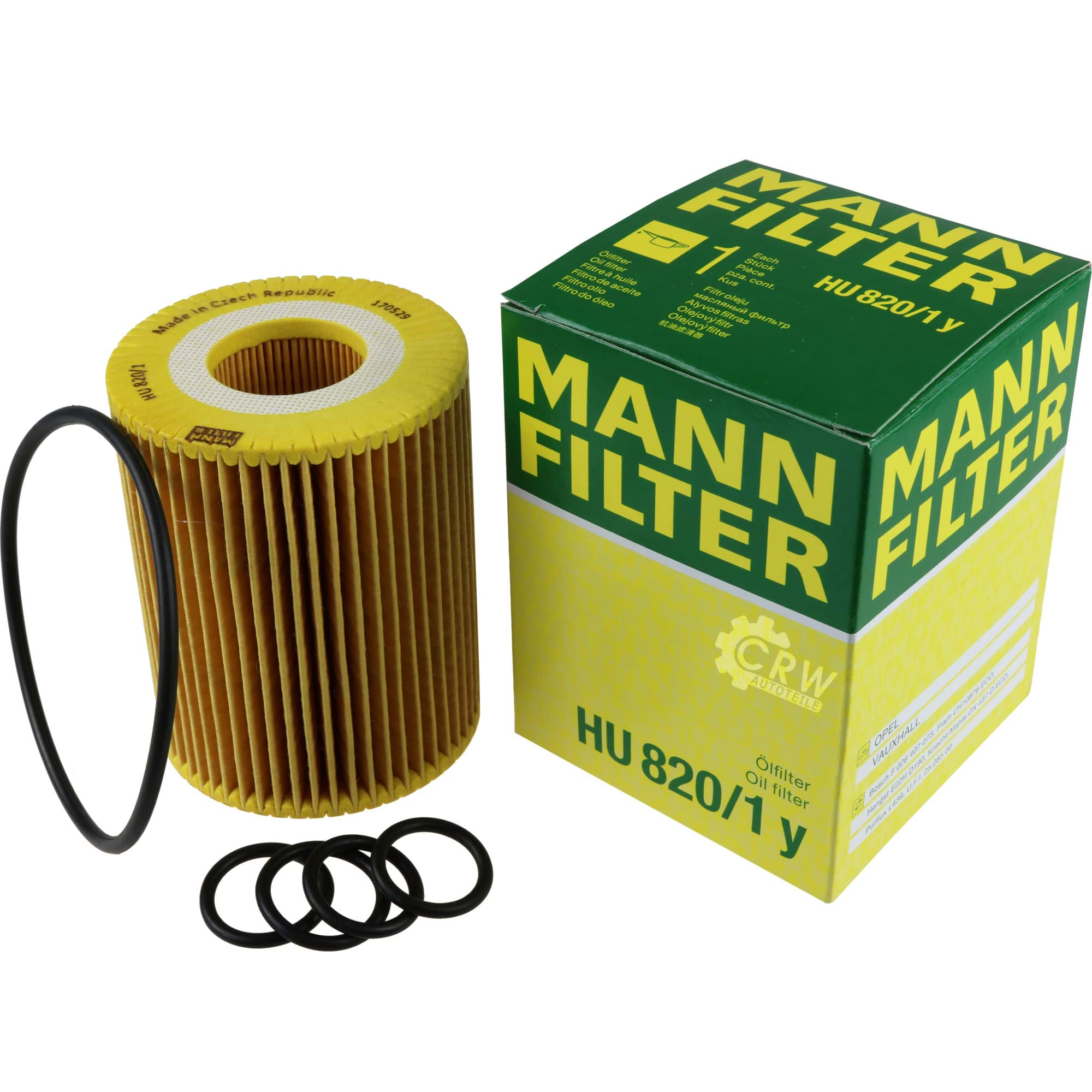 HU 820//1 y Ölfilter Filter MANN-FILTER