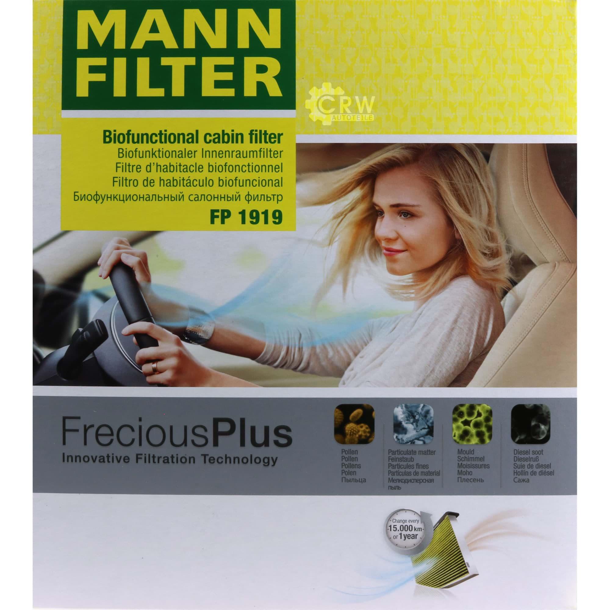 MANN-FILTER Original Filter Innenraumluft FP 1919