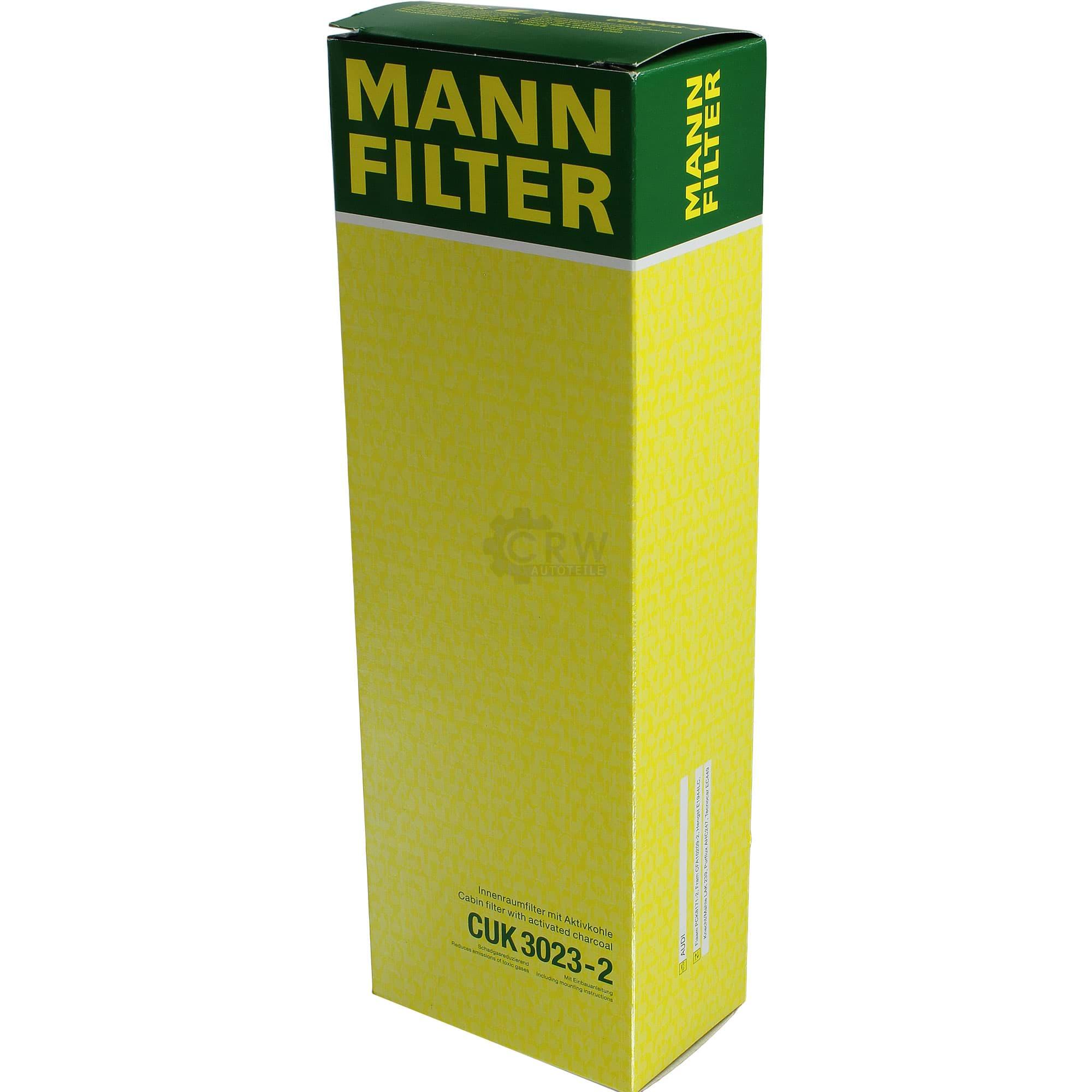 Innenraumfilter Pollenfilter für Innenraumluft MANN-FILTER CUK 3023-2