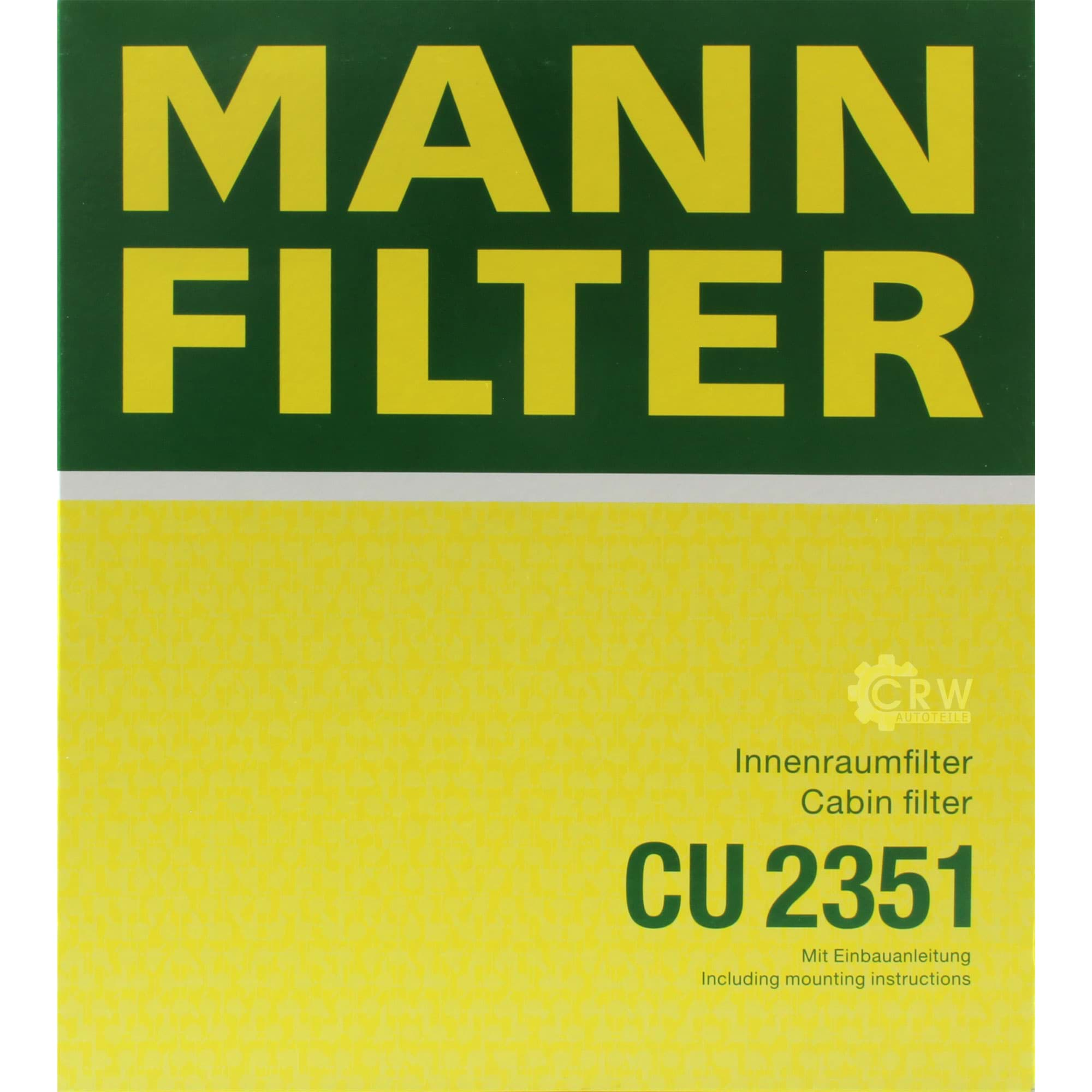 Innenraumluft Mann Filter CU2351 Filter