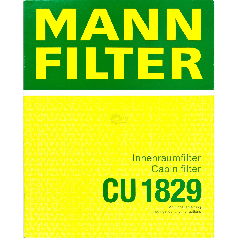 CU 1829 Innenraumfilter Pollenfilter MANN-FILTER