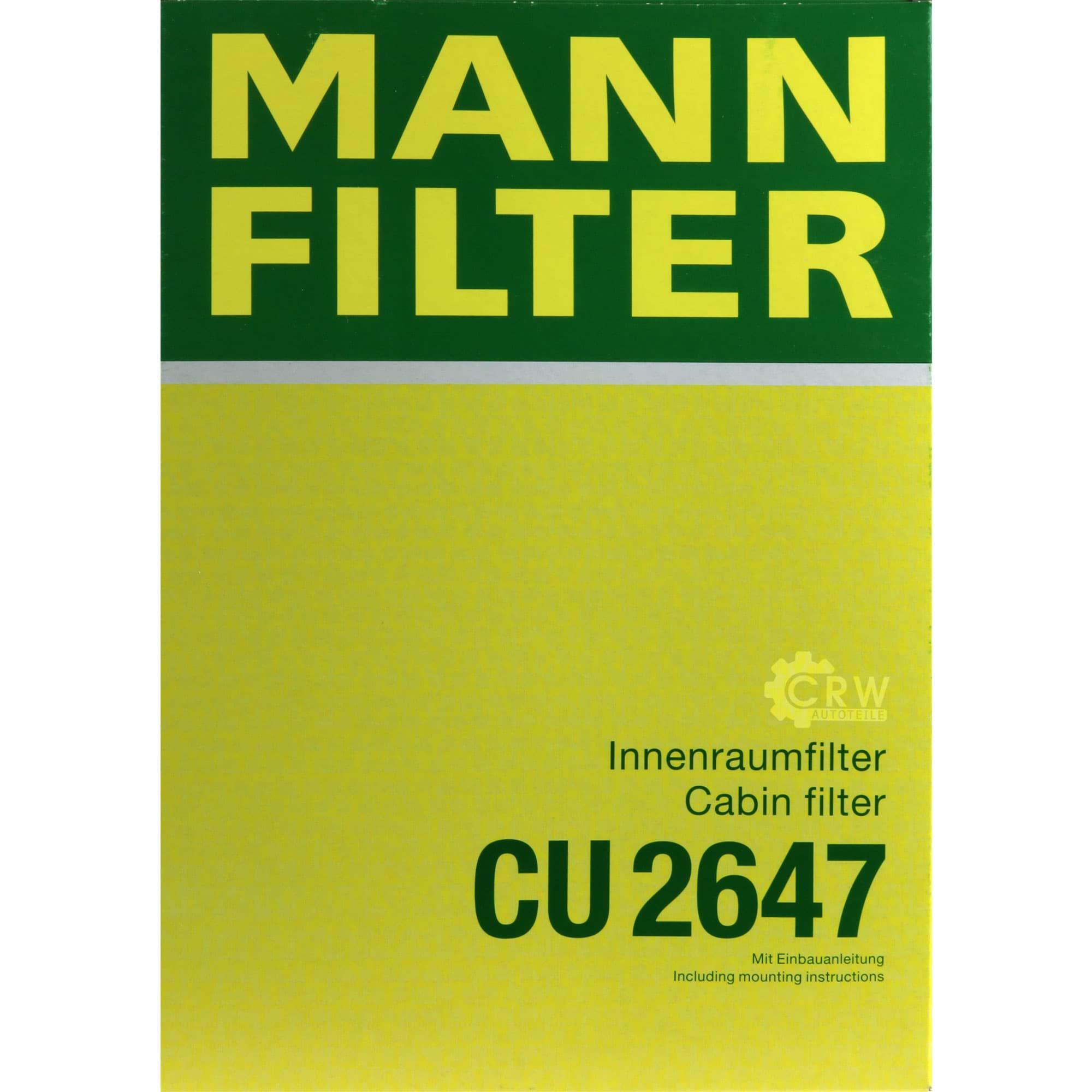 Innenraumluft Mann Filter CU 2647 Filter