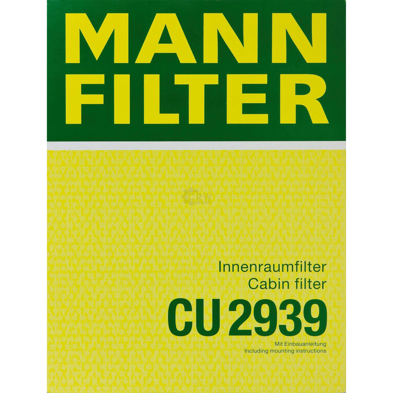 MANN Pollenfilter CU2939 INNENRAUMFILTER Audi VW Seat Skoda