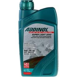 Bild von ADDINOL SUPER LIGHT 0540 Motoröl 5W-40 MB 229.5/226.5 VW 502 00/505 00 1 Liter