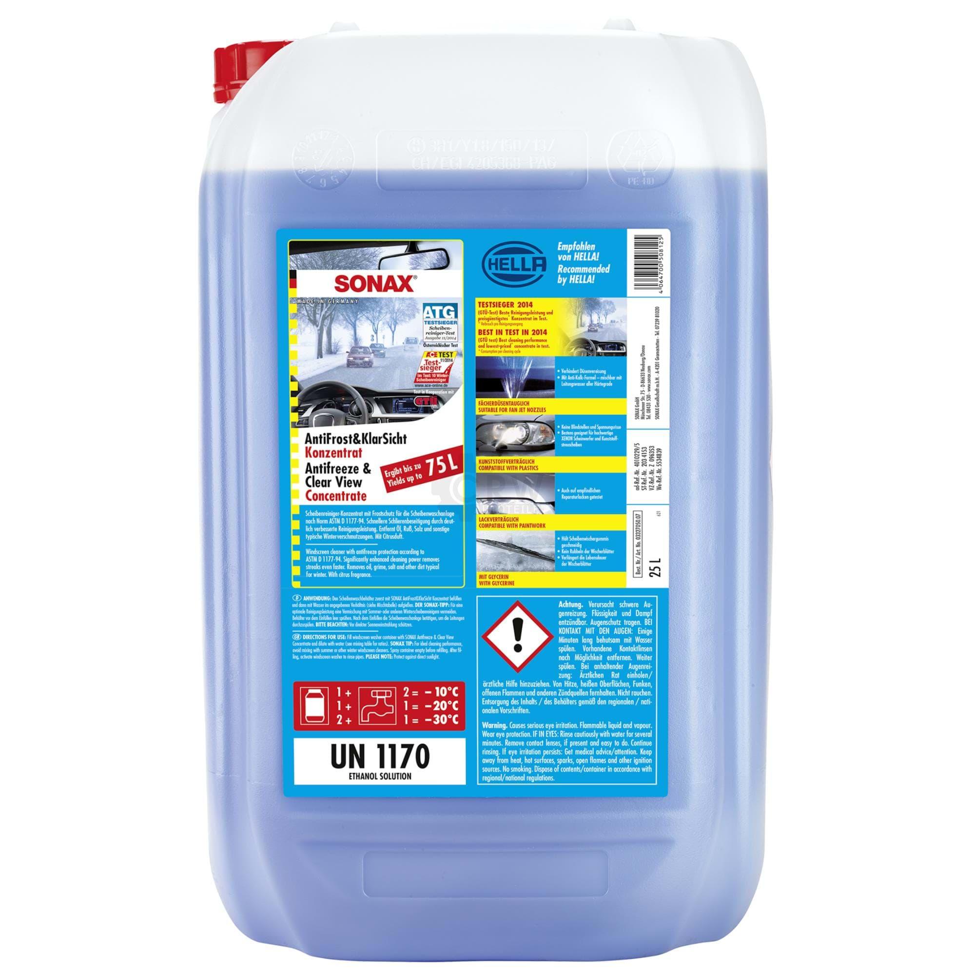 sonax 03327050 antifrost klarsicht konzentrat frostschutz 25 liter autoteile f r pkw und. Black Bedroom Furniture Sets. Home Design Ideas