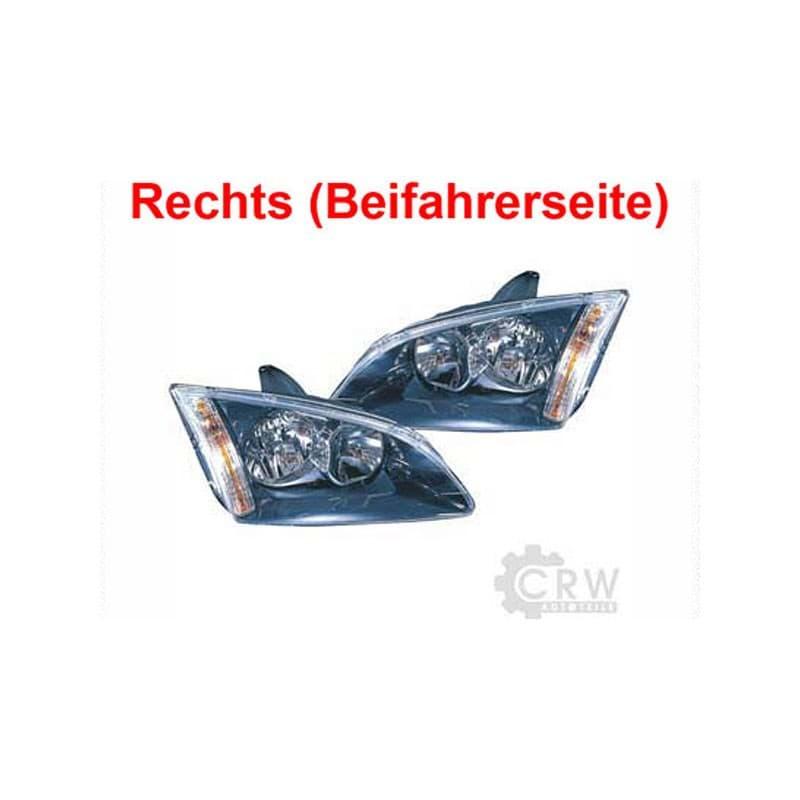 Scheinwerfer rechts Ford Focus II 2 Typ DA3 Bj 04-08 schwarz H1+H7 1345350